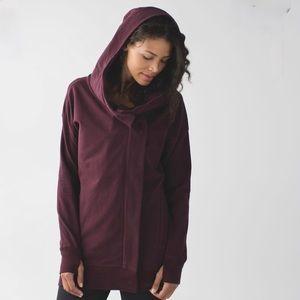 Lululemon Wrap Up Jacket. Maroon color.